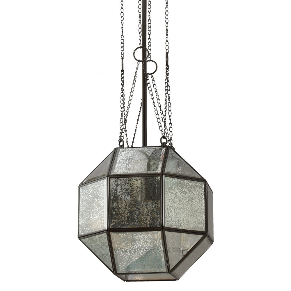 Lazlo Medium 1-light Heirloom Bronze Pendant with Mercury Glass