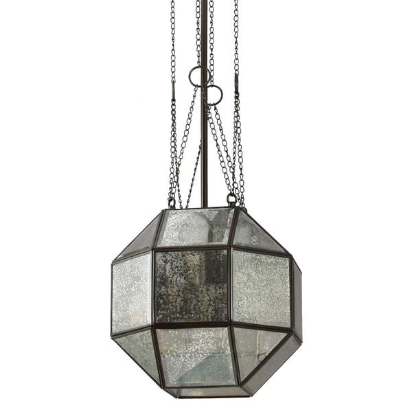 Lazlo Medium 1-light Heirloom Bronze Pendant with Mercury Glass