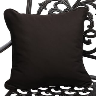 Bay Brown Corded Indoor/ Outdoor Square Throw Pillows with Sunbrella Fabric (Set of 2)
