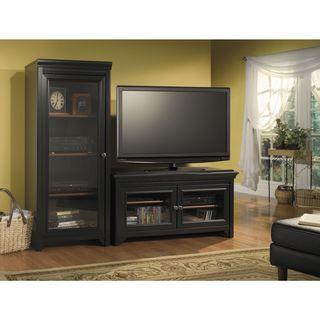 Bush Furniture Stanford Antique Black/ Hansen Cherry 50-inch Accent TV Stand and Audio Cabinet Set