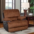 Trailblazer Two-tone Pecan Glider Recliner