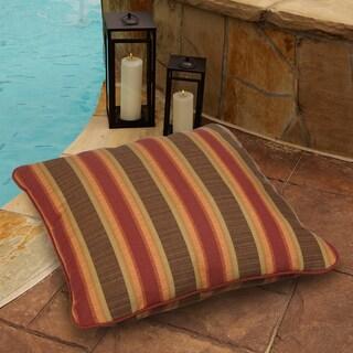Autumn Stripe 28-inch Square Indoor/ Outdoor Floor Pillow with Sunbrella Fabric