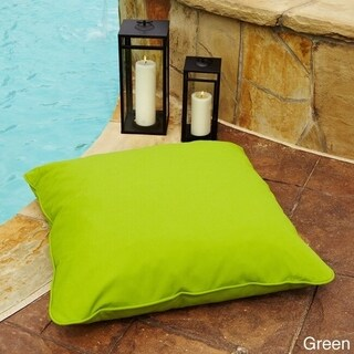 28-inch Square Indoor/ Outdoor Floor Pillow with Sunbrella Fabric