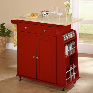 Simple Living Red Michigan Kitchen Cart
