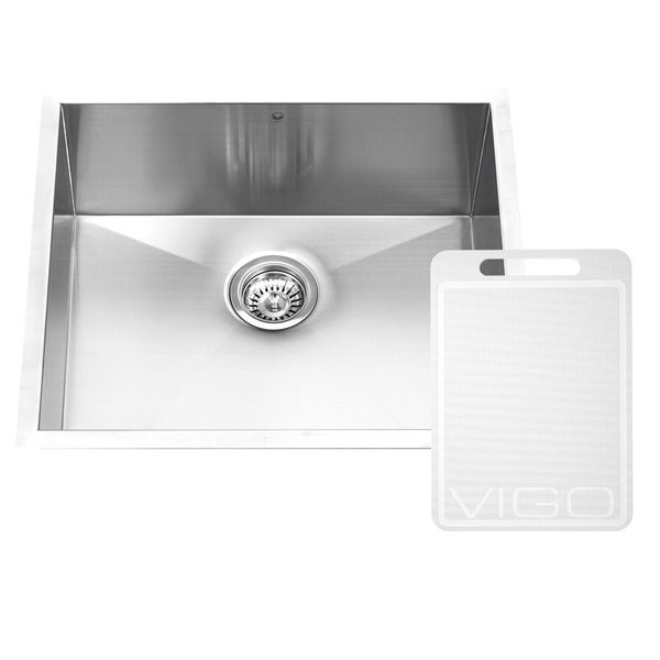Vigo 23-inch Undermount Stainless Steel 16-gauge Single Bowl Kitchen Sink