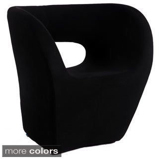 Faux Cashmere Stationary Modern Bucket-seat Arm Chair