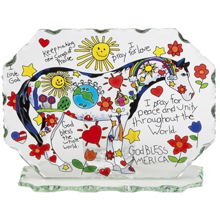 Joan Baker 'Children's Prayer Pony' Glass Candleware