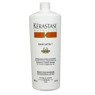 Kerastase Nutritive Bain Satin 1 Irisome 34-ounce Exceptional Nutrition Shampoo