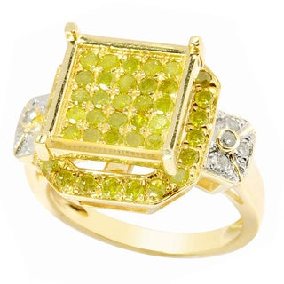 14k Yellow Gold 1ct TDW Yellow and White Diamond Ring (H-I, I2-I3)
