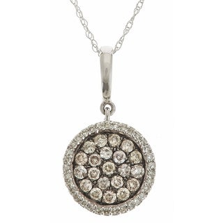 14k White Gold 5/8ct TDW Brown and White Diamond Necklace (H-I, SI1-SI2)