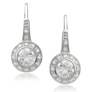 Tressa Collection Sterling Silver Cubic Zirconia Dangle Earrings