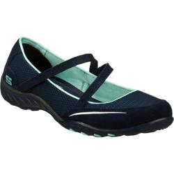 Women's Skechers Relaxed Fit Breathe Easy Quittin Time Navy