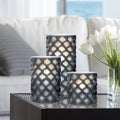Order Home Collection 3-piece LED Lattice Candle Set w/Timer