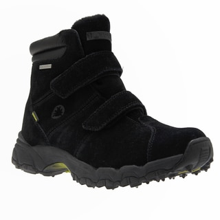 IceBug Men's 'Ryum' BUGrip Black Suede Mid-cut Hiking Boots