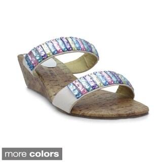 Blue Women's Elida Wedge Sandals
