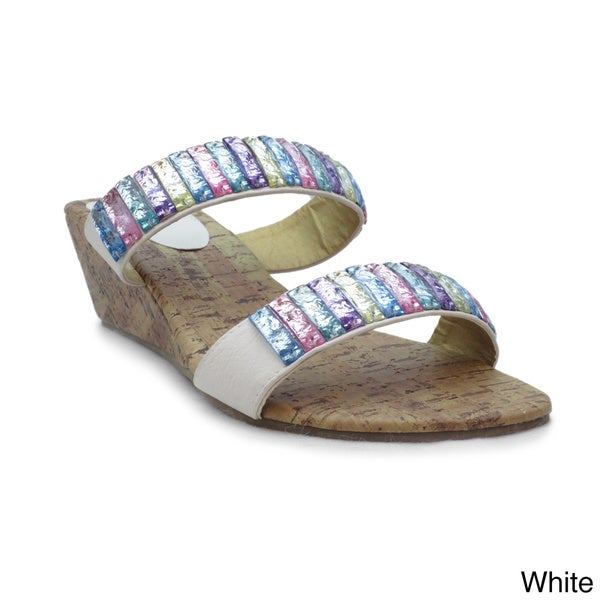 Blue Women's Elida Wedge Sandals