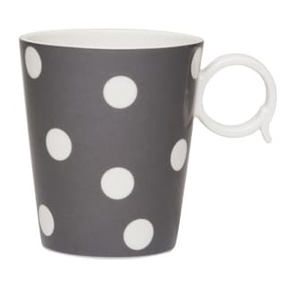 Freshness Grey with White Dots 12-ounce Mugs (Set of 2)
