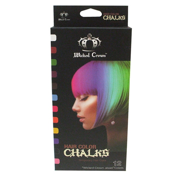 Wicked Crown 12-color Hair Chalk Set