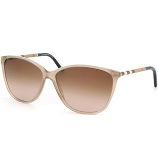 Burberry Women's BE 4117 301213 Sand Plastic Cat-eye Sunglasses