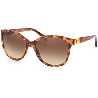 D&G Women's Brown Marble Cateye Sunglasses