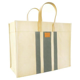 Color Dunes Classic Grey Stripe Canvas Tote