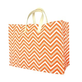 Color Dunes Tangerine Orange Zig-zag Super Tote