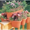 Bloem Terra Cotta Finish 21-inch Milano Rail Planters (Set of 4)