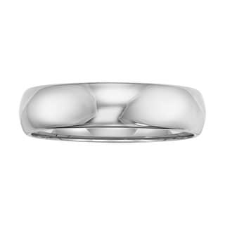 Cambridge Grey Tungsten Carbide Polished Comfort-fit Domed Band