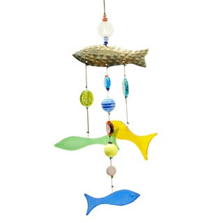 Handmade 'Here Fishy Fishy' Wind Chime (India)