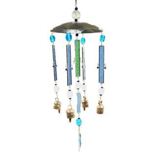 Handmade Pretty Colors Outdoor Wind Chime (India)