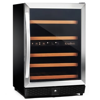 KingsBottle Stainless Steel 50-bottle Compressor Dual Zone Wine Cooler
