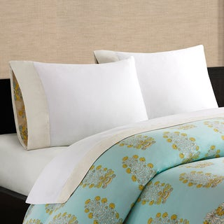 Echo Design Paros Cotton Decorative Cuff Sheet Set