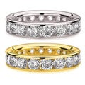 14k White or Yellow Gold 5ct TDW Channel-set Diamond Eternity Wedding Band (H-I, I1-I2)