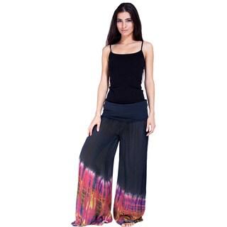 Handmade Tie-dye Women's Side-slit Pants (Nepal)