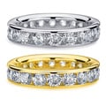 14k Gold 4ct TDW Channel-set Diamond Eternity Wedding Band (H-I, I1-I2)