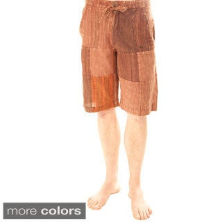Men's Plaid Short Cotton Lounge Pants (Nepal)