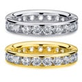 14k White or Yellow Gold 3ct TDW Channel Set Diamond Eternity Wedding Band (H-I, I1-I2)