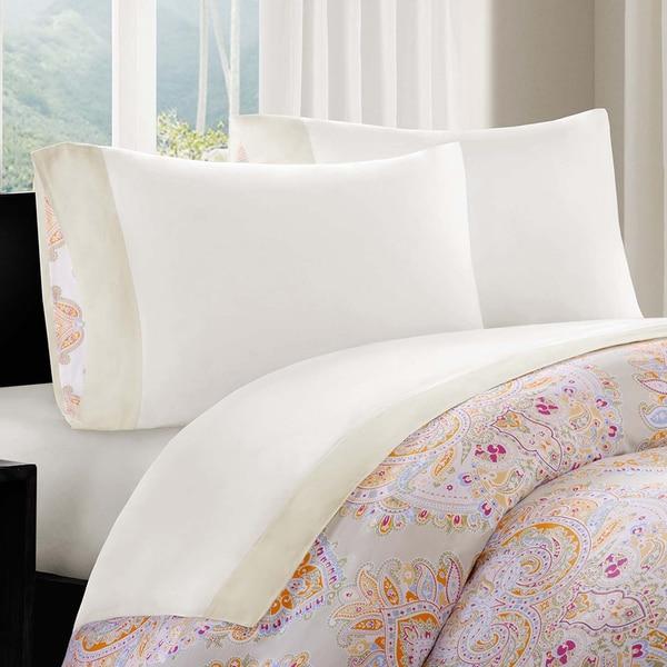 Echo Design Laila Cotton Embellished Cuff Sheet Set