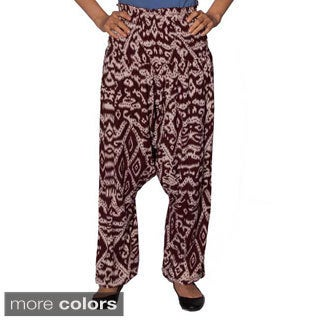 Handmade Women's Urban Printed Harem Pants (Indonesia)