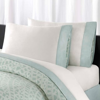 Echo Design Mykonos All Cotton Sheet Set with Pieced Cuff