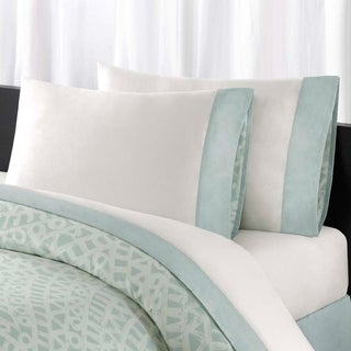 Echo Mykonos All Cotton Sheet Set with Pieced Cuff