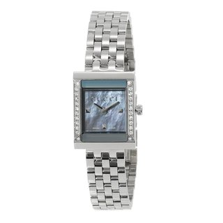 Gucci Women's 'G Frame' Mother of Pearl Dial Diamond Watch