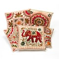 Set of 5 Ari Embroidered Gujarati Cushion Covers (India)