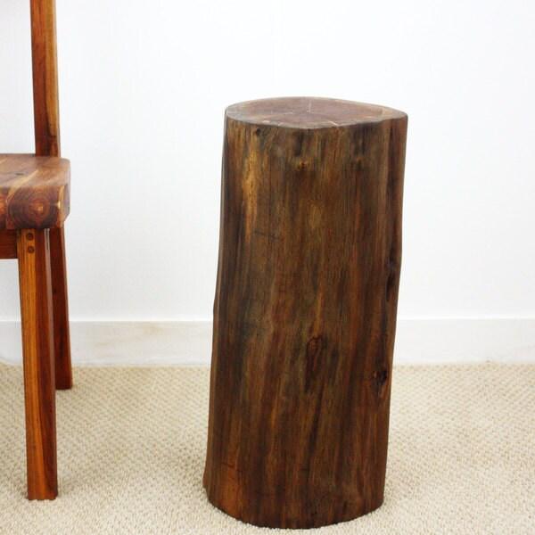 Handmade Teak Stump Accent Table Stand (Thailand)