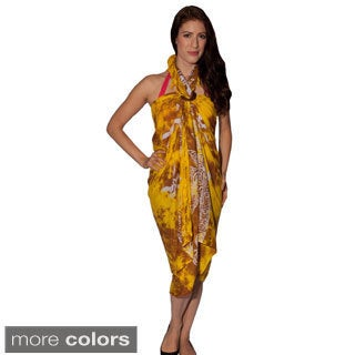 Women's Turtle-print Sarong and Buckle (Indonesia)