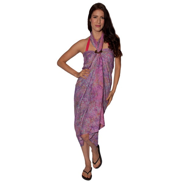 Women's Tropical-print Summer Sarong (Indonesia)