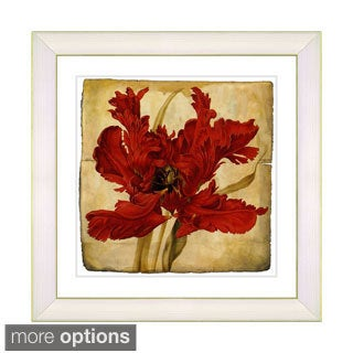 Zhee Singer 'Vintage Botanical No 021 - Antiqued' Framed Fine Art Print