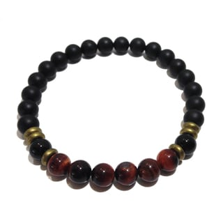 Red Tigers Eye and Black Tourmaline Protection Bracelet