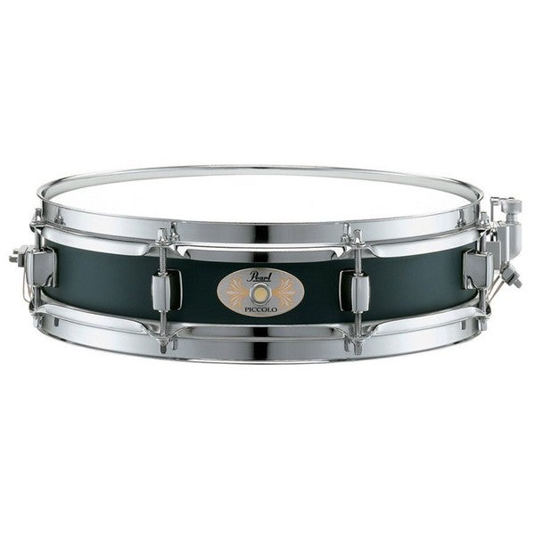 Pearl Black Steel Piccolo Snare Drum