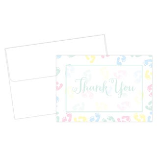 Baby Feet Thank You Note Boxed Cards (24 count)